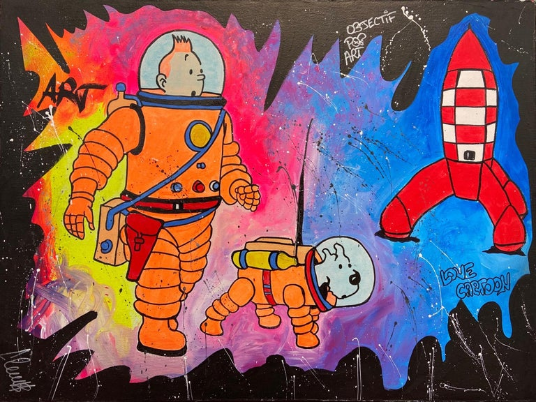 Tintin - 2020 - Painting by  Clem$