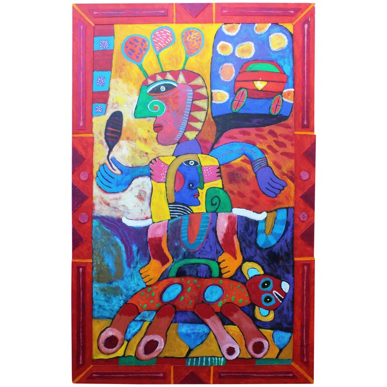 """Clemens Briels Oil on Wood Painting """"Prince of the Alisal"""" For Sale"""