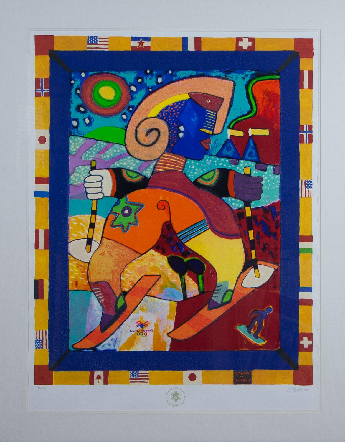 The Fragrance of Park City serigraph for 2002  Olympics by Clemens Briels