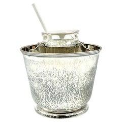 Clemens Friedell Sterling Silver Martele Arts & Crafts Caviar Bowl, Pasadena CA