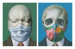 "Frank Xaver Messerschmidt ""Stubborn"" masked & ""The Skull"" masked"
