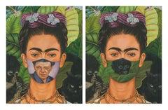"Frida Kahlo ""Self Portrait ""masked with Diego Rivera ""Self Portrait"" & Unmasked"