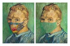 "Van Gogh ""Self Portrait"" masked with Gauguin's Tahitian Women on the Beach & Unm"