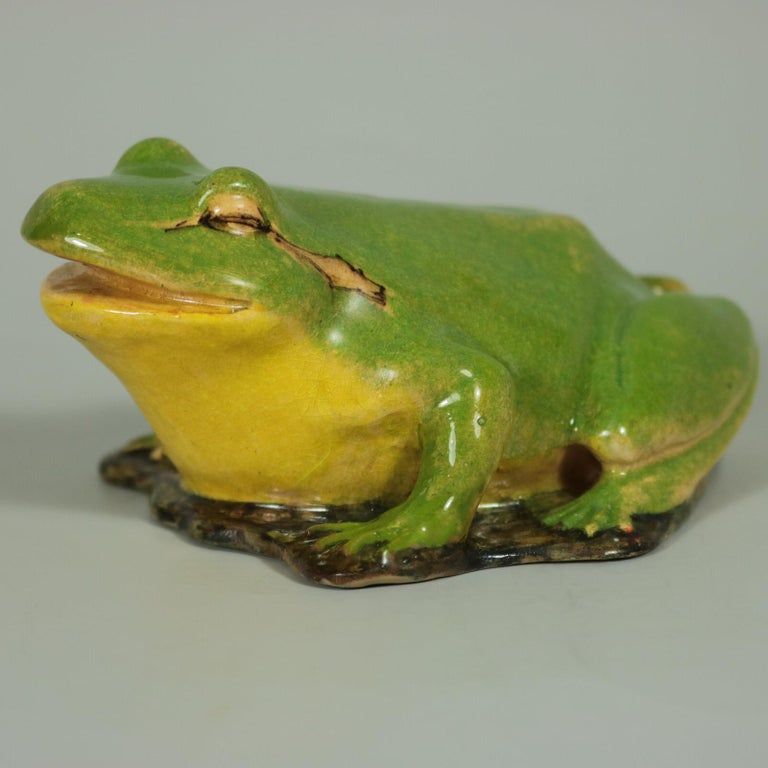 Victorian Clement Massier Frog Figure For Sale