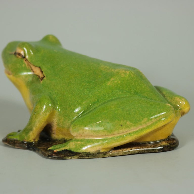 French Clement Massier Frog Figure For Sale