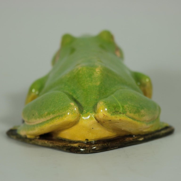 Glazed Clement Massier Frog Figure For Sale
