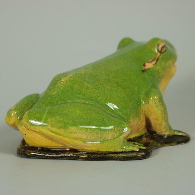 Clement Massier Frog Figure In Good Condition For Sale In Chelmsford, Essex