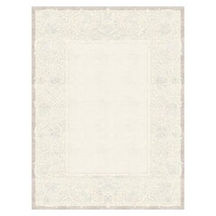 Clementine Gris - Patterned Designer Hand Knotted Wool Silk Rug
