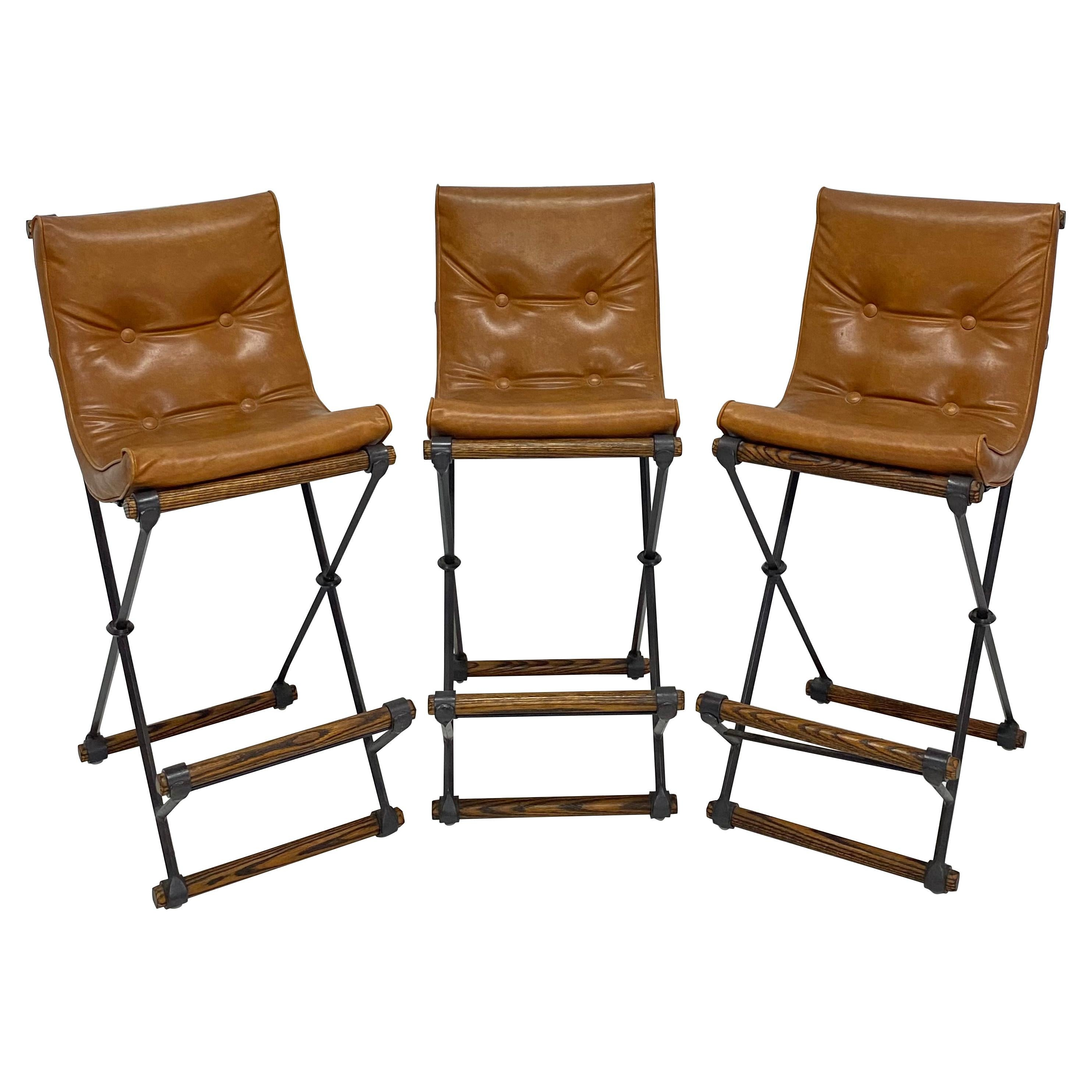 Cleo Baldon Bar Stools with Eco-Leather Cushions for Terra, Set of Three