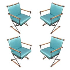"Cleo Baldon Midcentury ""Directors Chair"" Dining Chairs, Set of 4"