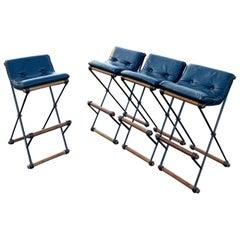 Cleo Baldon Terra Wrought Iron Bar Stools, Mid-Century Modern Sculptural Chairs