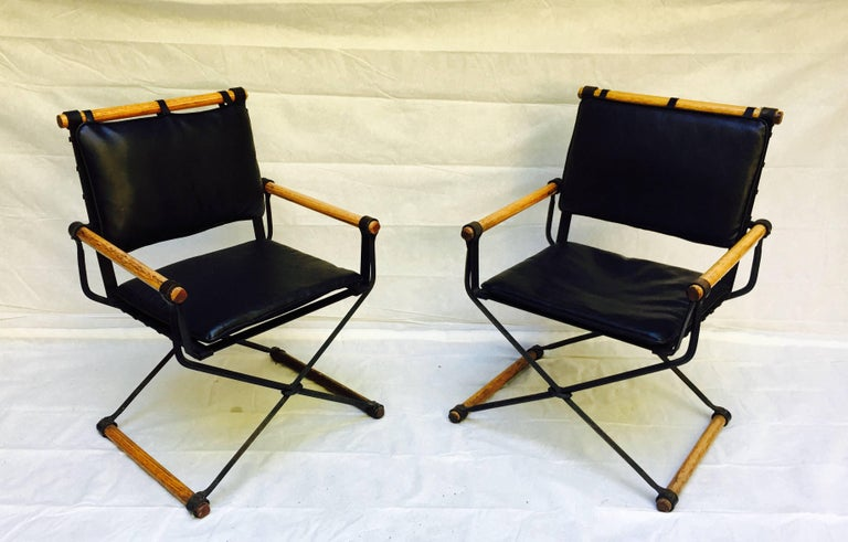 Cleo Baldon Wrought Iron Campaign Armchairs for Terra, circa 1965 For Sale 1