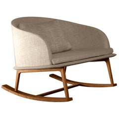 Cleo Beige Rocking Chair by Talenti