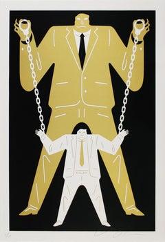 Little Man Big Man Mueller / Trump, Cleon Peterson - Gold, Street Art Print