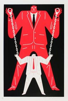 Little Man Big Man Mueller / Trump, Cleon Peterson - Red, Street Art Print