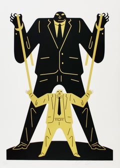 Little Man Big Man Putin / Trump, Cleon Peterson - Gold Street Art Print