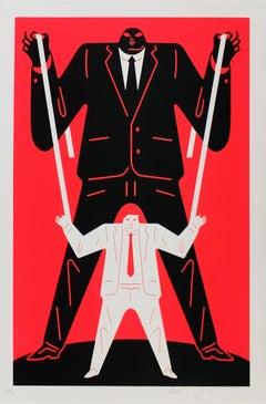 Little Man Big Man Putin / Trump, Cleon Peterson - Red, Street Art Print