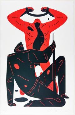 The Collaborator, White, Cleon Peterson Contemporary Urban Art Print