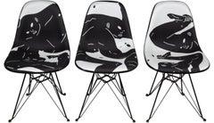 Museum of Contemporary Art Denver X Modernica Full Set of 3 Fiberglass Chairs
