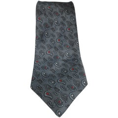 Cleonoro grey silk tie