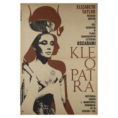 Cleopatra Original Polish Film Poster, Eryk Lipinski, 1968