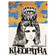 'Cleopatra' Original Vintage Movie Poster by Somorjai Imre, Hungarian, 1966