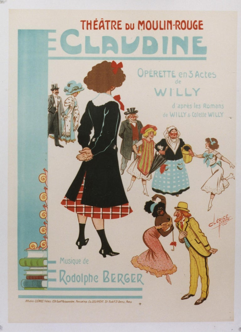 Clerice Frères Figurative Print -  Claudine/Theatre du Moulin Rouge