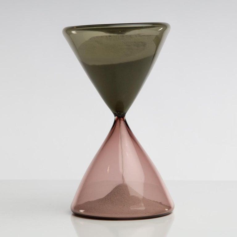 Blown Glass Clessidra Hourglass, Paolo Venini, Venini Murano 'Italy' For Sale