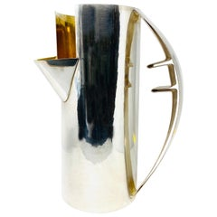 Cleto Munari Silver and Gold Plated Water Pitcher by Carlo Scarpa