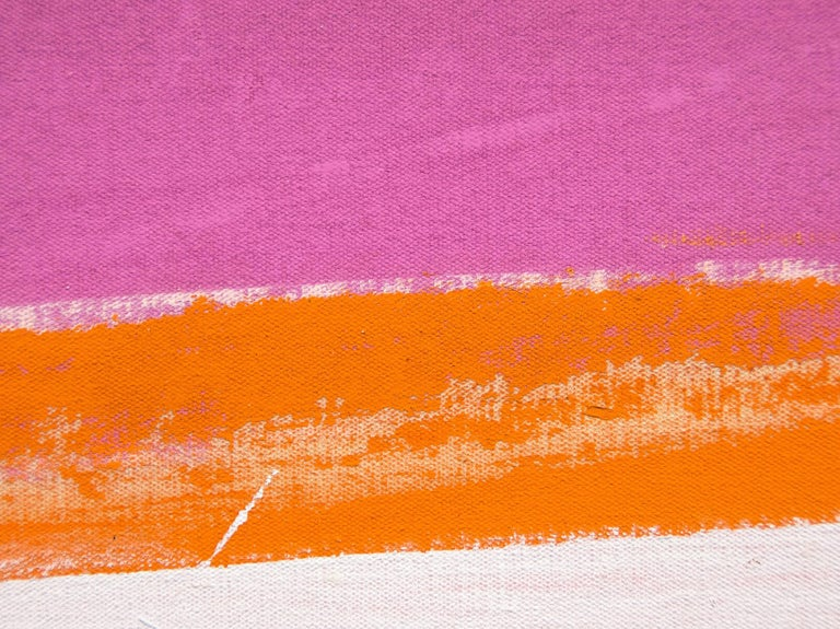 Bright Day - Beige Abstract Painting by Cleve Gray