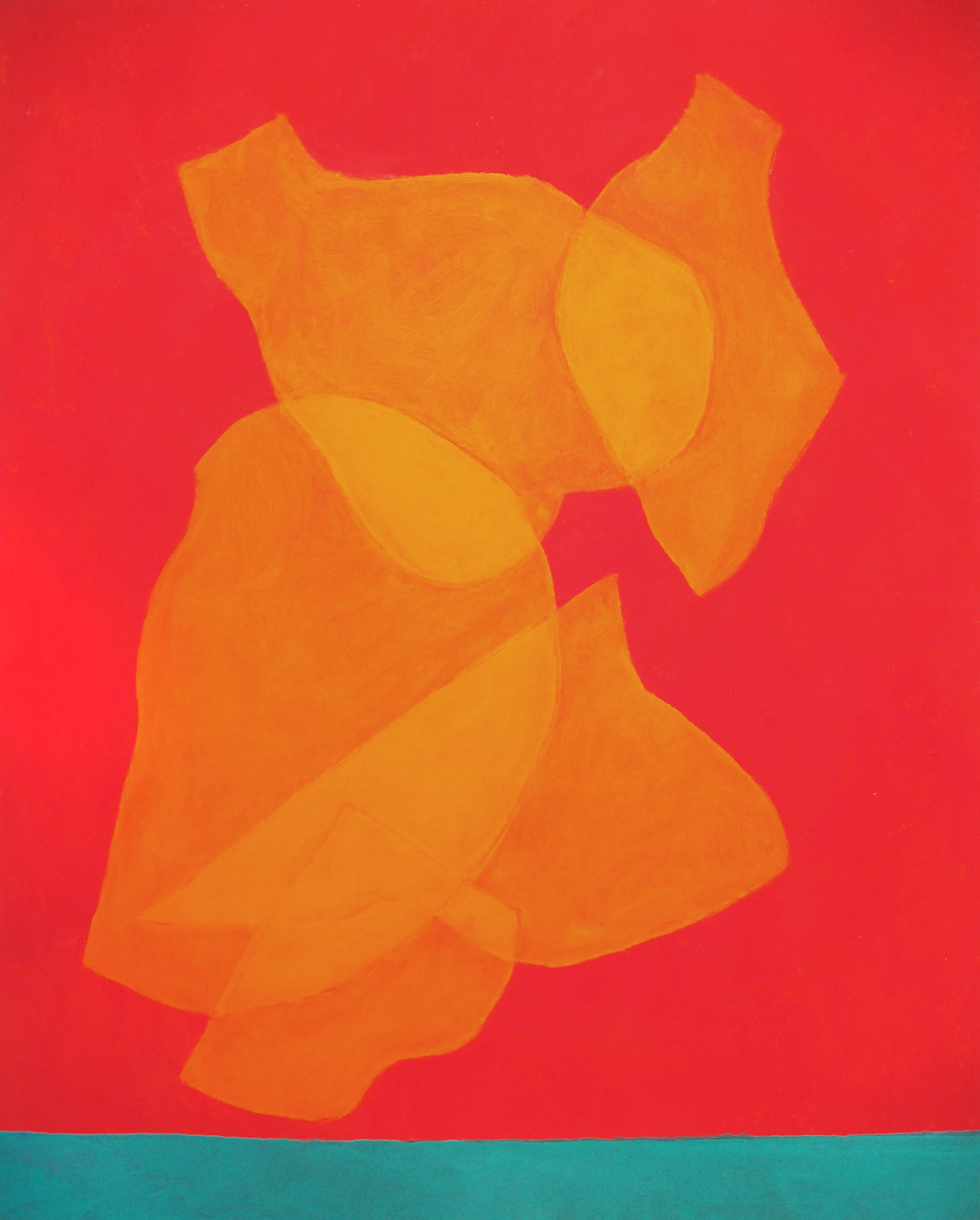 Cleve Gray, Ascensions #4, Oil on Canvas, 1997