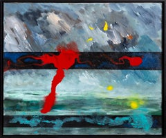 Inception, Abstract Expressionist Painting by Cleve Gray 1966