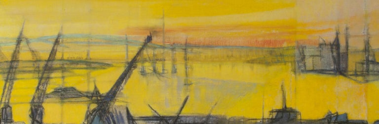 South Hampton 8:45PM - Abstract Painting by Cleve Gray