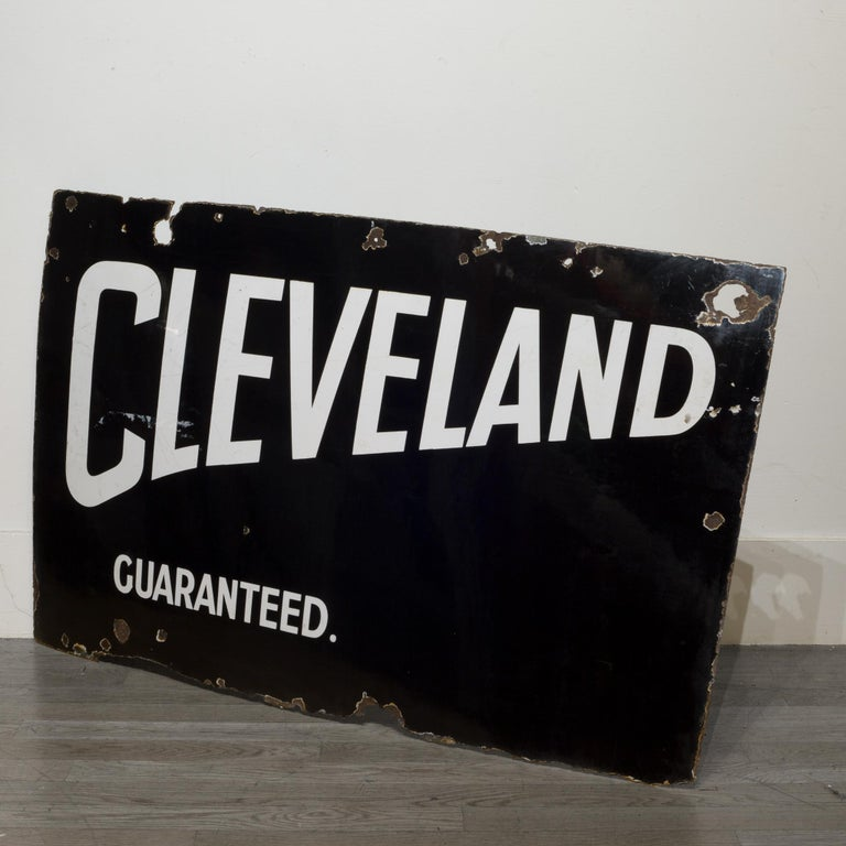 Industrial Cleveland Guaranteed Enameled Sign, circa 1920-1934