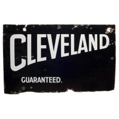 Cleveland Guaranteed Enameled Sign, circa 1920-1934