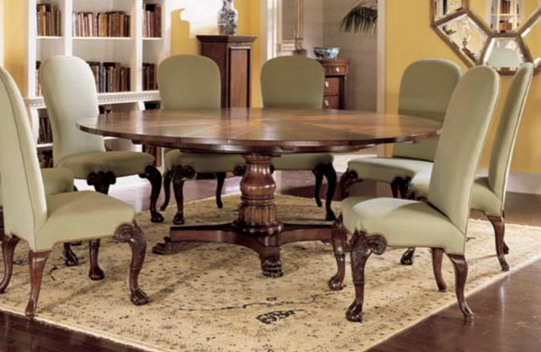 Chippendale Clever Oscar de la Renta Jupe Movement Expansion Round Dining Table and 8 Chairs