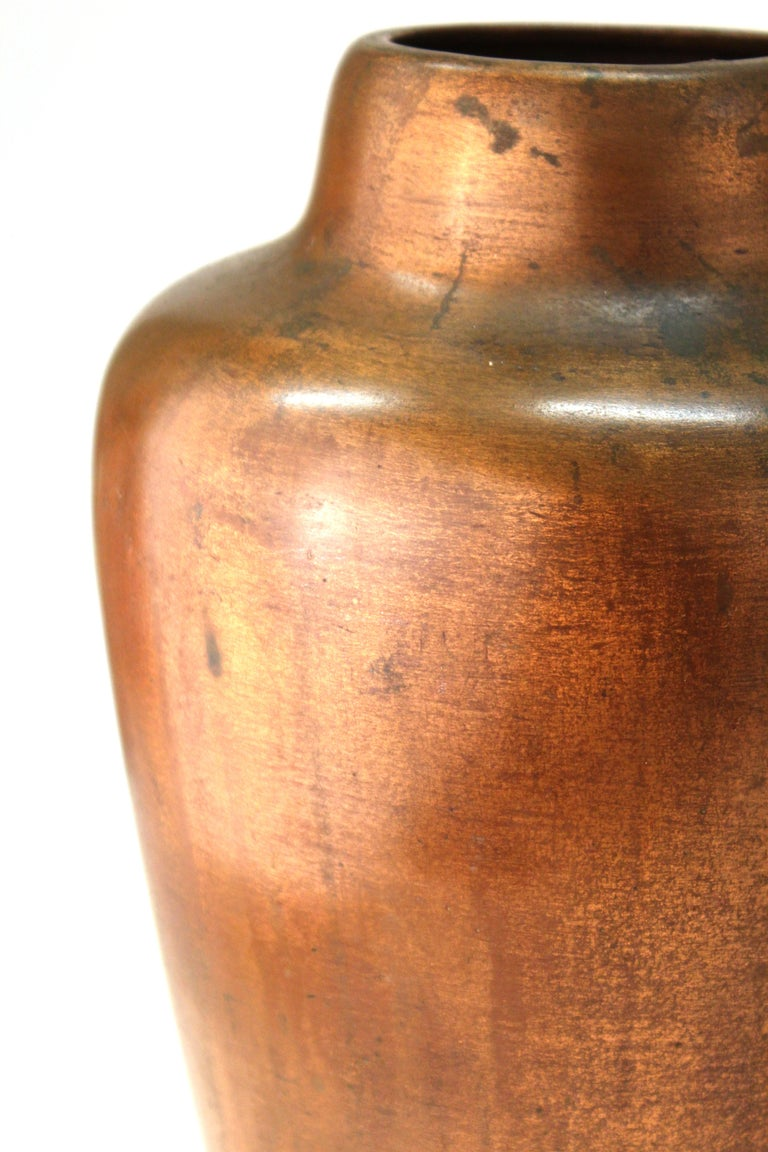 Clewell American Arts & Crafts Vases in Copper-Clad Ceramic For Sale 3
