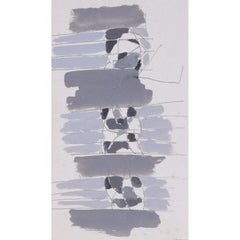 Clifford Ellis, 'Abstract in Grey II' midcentury gouache painting