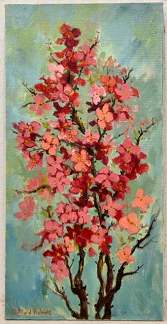 """Clifford Holmes """"Cherry Blossoms"""" Original Oil Painting C.1950"""