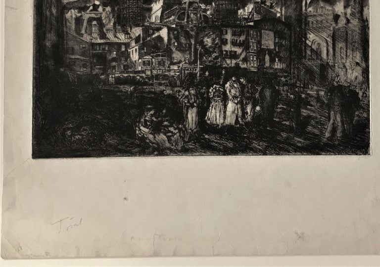 City Towers (City Hall, Philadelphia). state 6 - Black Figurative Print by Clifford Isaac Addams