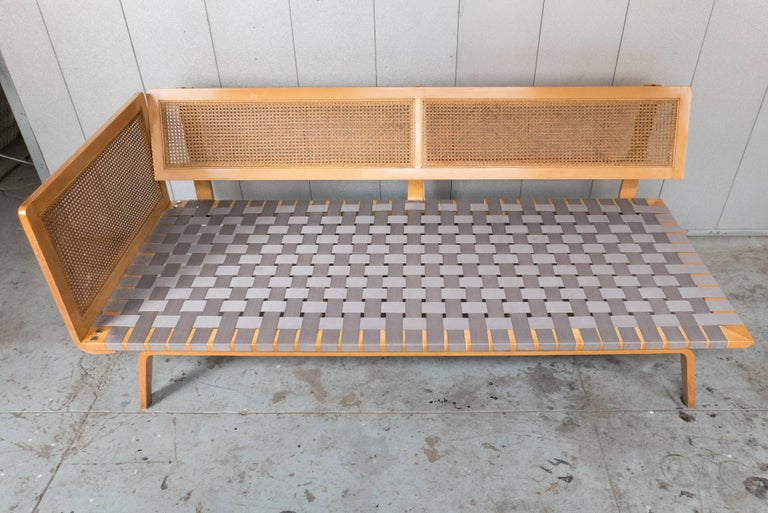 Mid-Century Modern Clifford Pascoe Daybed with Original Caning and Webbing For Sale