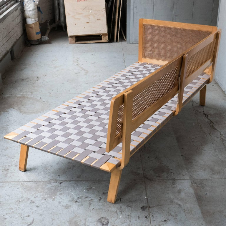 Mid-20th Century Clifford Pascoe Daybed with Original Caning and Webbing For Sale