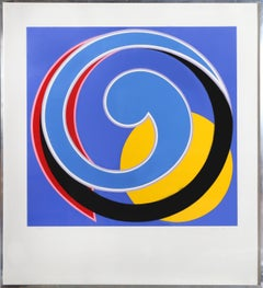 Large Colorful Abstract Screenprint by Clifford Singer