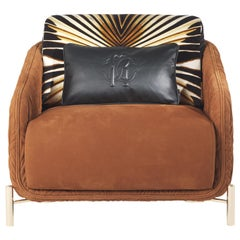 Clifton Armchair in Leather by Roberto Cavalli Home Interiors