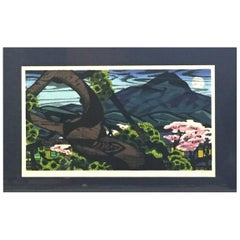 "Clifton Karhu Signed Limited Edition Japanese Woodblock Print ""Kamigano"""