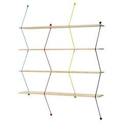 Climb 120 Shelving System Color Metal Threads, Birchwood