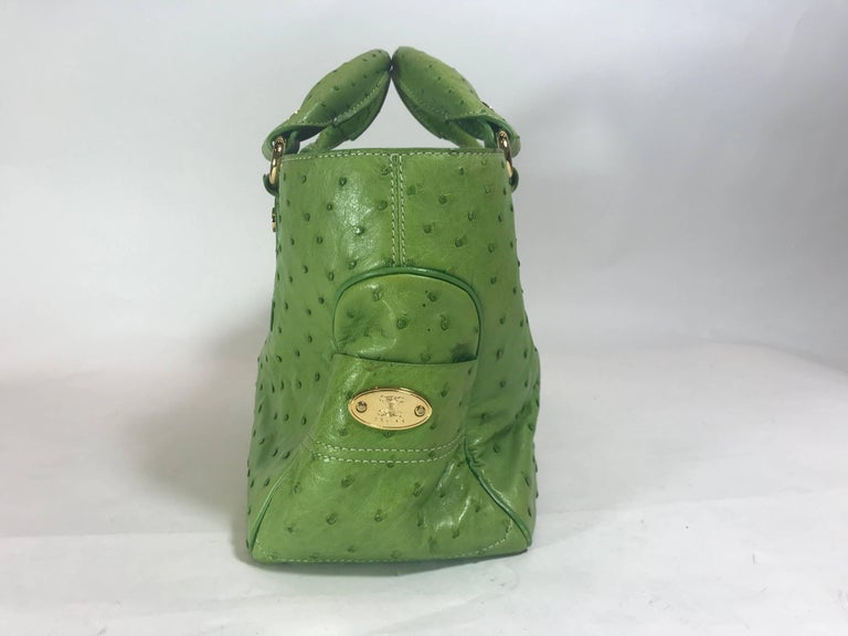 Celine always manages to make bags that are functional and stylish and this ostrich green bag fits the bill. Lined with supple emerald green interior and using fine gold hardware throughout, this bag makes us truly appreciate fine craftsmanship.