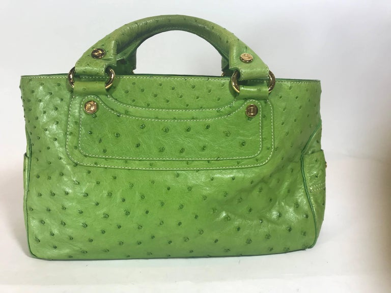 Green Céline Boogie Bag For Sale