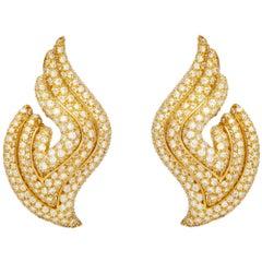 Clip-On Diamond Wing Earrings