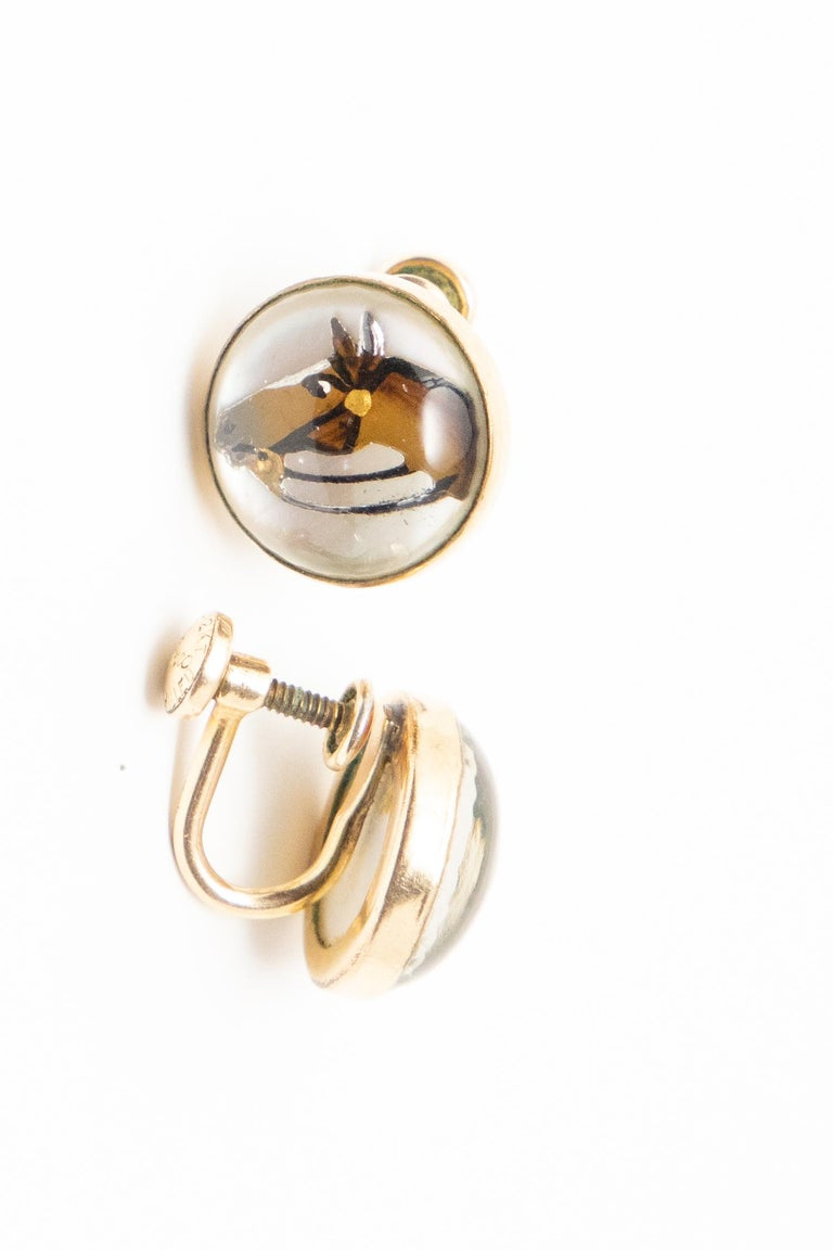 20th Century Clip-On Horse Head Earrings For Sale